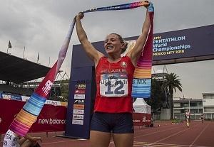 Anastasiya Prokopenko ganó el oro, en la prueba individual femenil del Campeonato Mundial de Pentatlón Moderno CDMX 2018