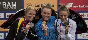 Anastasiya Prokopenko ganó el oro en la prueba individual femenil del Campeonato Mundial de Pentatlón Moderno, CDMX 2018 p1