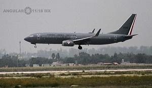 Ensayo de la Parada Aérea del Desfile Militar del 16 de Septiembre de 2018 aterrizaje de un avión de transportación de personal