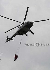 Ensayo de la Parada Aérea del Desfile Militar del 16 de Septiembre de 2018 helicóptero TORO MI-17