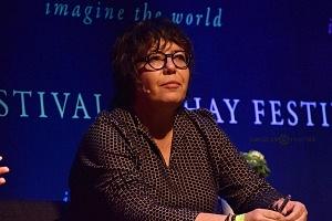 Gabriela Warkentin periodista y analista en el Hay Festival Querétaro 2018