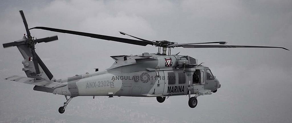 Helicóptero UH-60M Black Hawk en vuelo durante la parada aérea militar del 16 de septiembre de 2018
