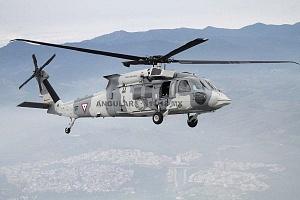 Helicóptero de la fuerza aérea mexicana UH-60M Black Hawk en la parada aérea 2018