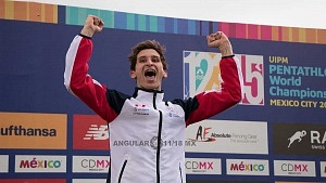 James Cooke de Gran Bretaña gana el oro en el Mundial de Pentatlón Moderno, CDMX 2018