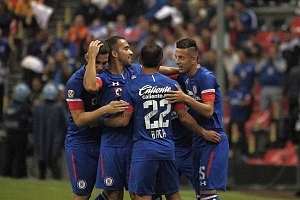 La Maquina de la Cruz Azul, vence al, Atlas 2-0 en la Jornada 10, del Apertura, 2018, ( festejo del triunfo de la maquina)
