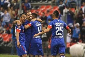La Maquina de la Cruz Azul, vence al, Atlas 2-0 en la Jornada 10, del Apertura, 2018 festejo del triunfo de la maquina
