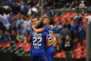 La Maquina de la Cruz Azul, vence al, Atlas 2-0 en la Jornada 10, del Apertura, 2018 (festejo del triunfo de la maquina)
