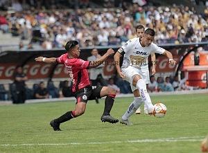 Pablo Barrera lateral de Pumas, frente a Lobos BUAP, en la jornada 9 del torneo de liga, apertura 2018