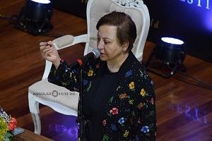 ShIrin Ebadi, Premio Nobel de la Paz 2003, en el Hay Festival 2018 en la conferencia Libertad de expresión