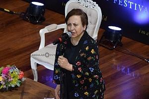ShIrin Ebadi, Premio Nobel de la Paz 2003 en el Hay Festival 2018 en la conferencia Libertad de expresión
