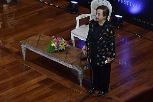 ShIrin Ebadi, Premio Nobel de la Paz en 2003, en el Hay Festival 2018 en la conferencia Libertad de expresión