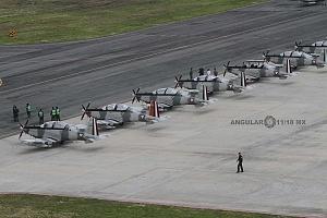 base aérea Santa Lucia aviones estacionados que participaran en el próximo desfile del 16 de septiembre 2018