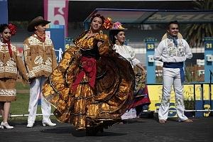 ceremonia inaugural del Campeonato Mundial de Pentatlón Moderno Ciudad de México 2018, bailes tipicos, de diferentes regiones de México