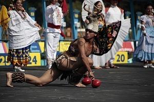 ceremonia inaugural del Campeonato Mundial de Pentatlón Moderno Ciudad de México 2018, bailes tipicos de diferentes regiones de México