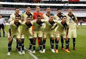 equipo inicial de las Águilas del América en la jornada 9 del torneo de liga apertura 2018