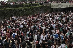 estudiantes marchan en ciudad universitaria el 5 de septiembre iniciando el recorrido en ciencias políticas concluyendo en rectoria 1