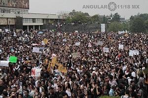 estudiantes marchan en ciudad universitaria el 5 de septiembre por el futuro de la educación y contra la violencia iniciando en ciencias políticas y concluyendo en rectoria 7
