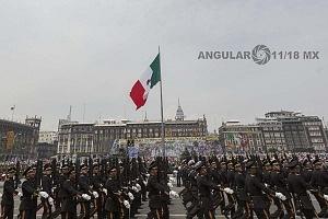 se conmemora  el 208 aniversario de la independencia de México con el tradicional  desfile militar