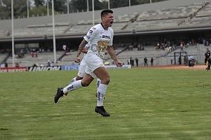 festejo del gol de Pumas de parte de Juan Manuel Iturbe en la jornada 9, del torneo apertura 2018