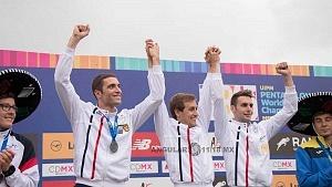 Francia se corono campeón por equipo del mundial de pentatlón moderno cdmx 2018