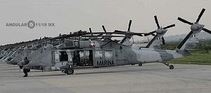 helicópteros que participaran en el próximo desfile militar del 16 de septiembre de 2018 en la base aérea santa Lucia