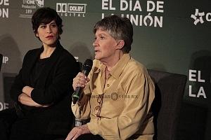 productora Anna Roth en la presentación de la cinta El Día de la Unión