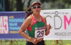 prueba individual femenil, del Campeonato Mundial de Pentatlón Moderno CDMX 2018 competidora de México