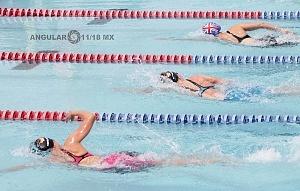 prueba individual femenil, del Campeonato Mundial de Pentatlón Moderno CDMX 2018 disciplina natación