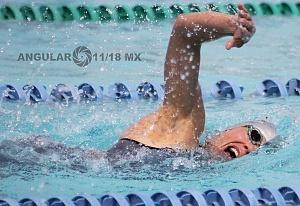 prueba individual femenil, del Campeonato Mundial de Pentatlón Moderno CDMX 2018 disciplina, natación
