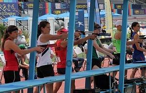 prueba individual femenil del Campeonato Mundial de Pentatlón Moderno, CDMX 2018 disciplina tiro y carrera