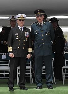 Secretarios de la Defensa Nacional y de Marina, General Salvador Cienfuegos y el Almirante Vidal Francisco Soberón Sanz