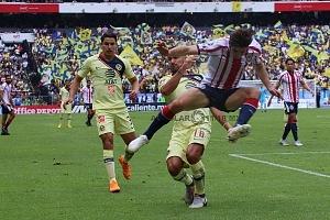AMÉRICA y GUADALAJARA, empatan 1-1, en el Súper Clásico Nacional