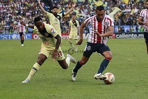 AMÉRICA y GUADALAJARA, empatan 1-1, en el Súper Clásico, Nacional