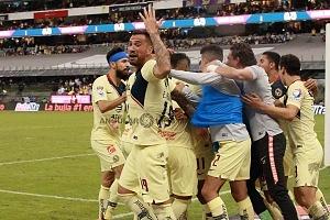 AMÉRICA y GUADALAJARA, empatan 1-1, en el Súper Clásico, Nacional festejo del gol, del América