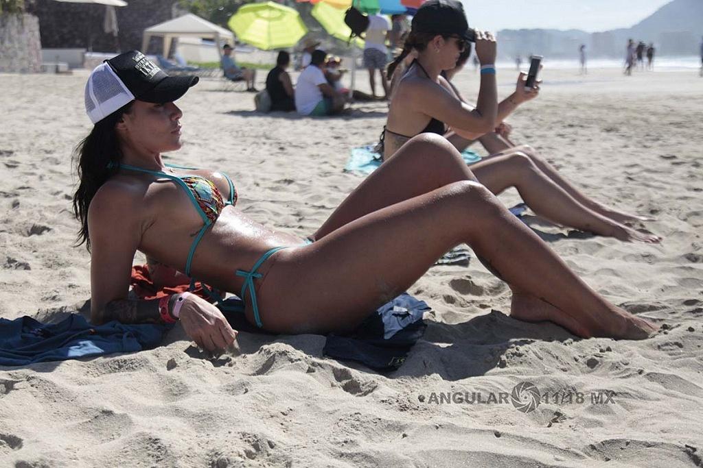La belleza se hace presente en el GoPro Surf Open Ixtapa Zihuatanejo 2018 playa escollera