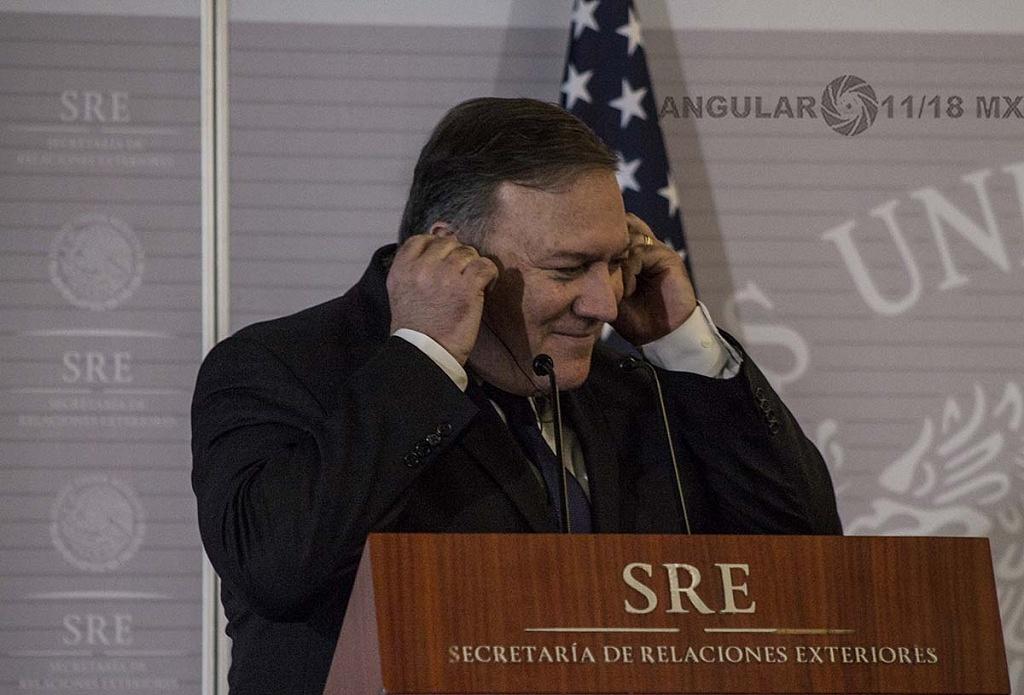 Michael Pompeo Secretario de Estado de Estados Unidos en visita de trabajo en la Ciudad de México