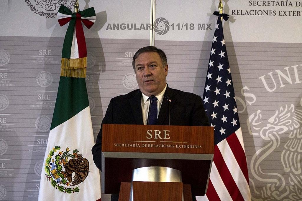 Michael Pompeo Secretario de Estado de Estados Unidos en visita de trabajo, en la Ciudad de México