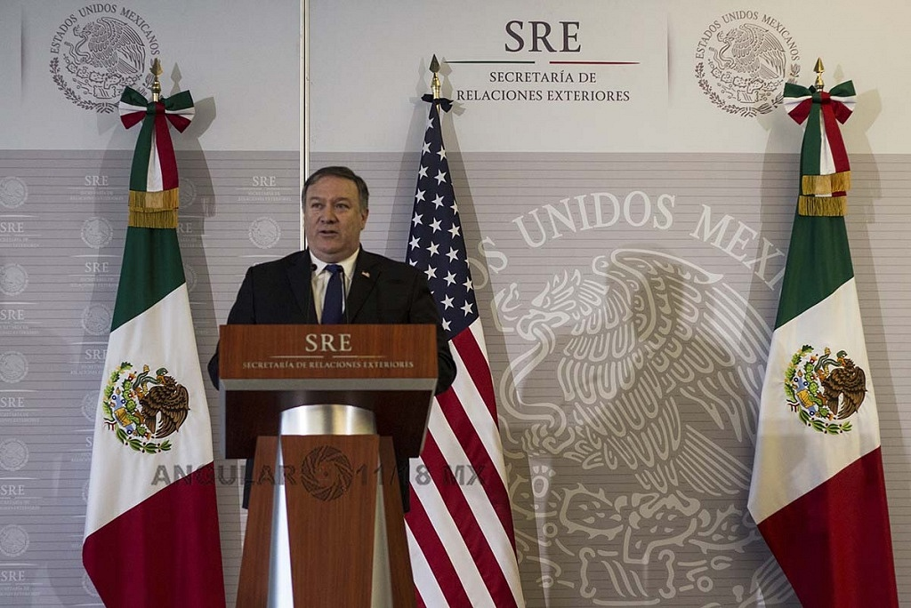 Michael Pompeo Secretario de Estado, de Estados Unidos en visita de trabajo en la Ciudad de México