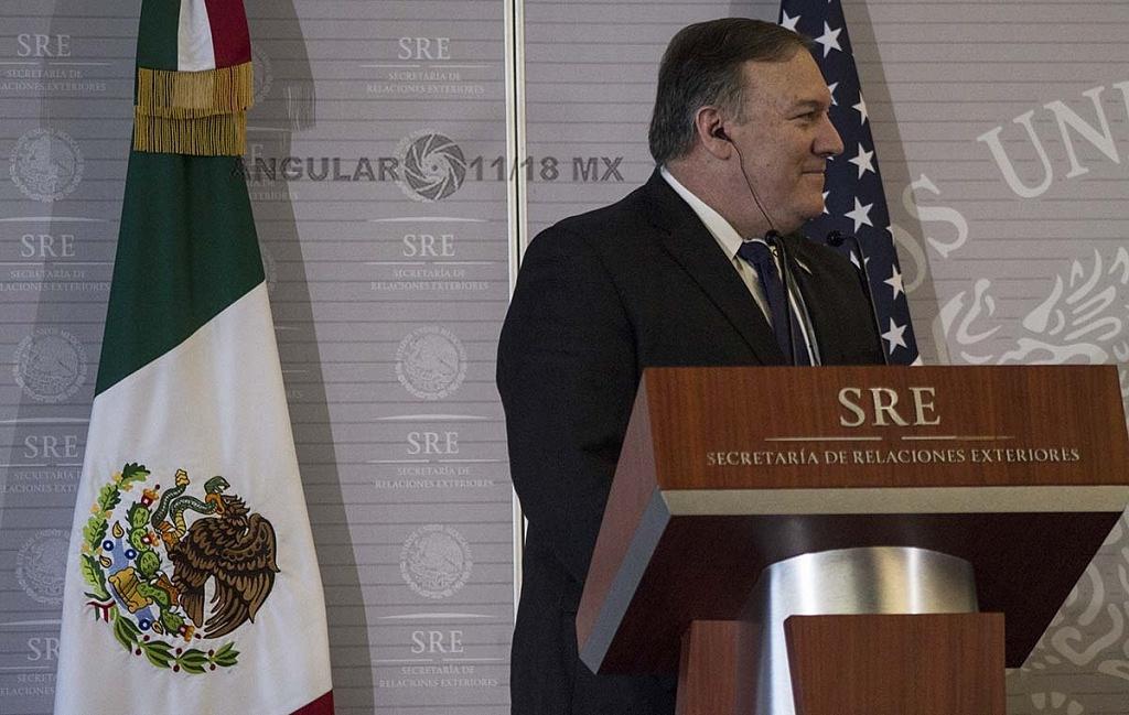 Michael Pompeo, Secretario de Estado de Estados Unidos en visita de trabajo en la Ciudad de México
