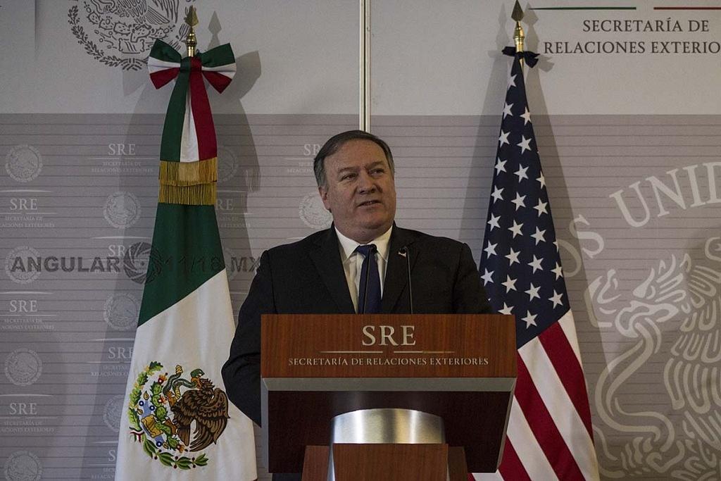 Michael Pompeo, Secretario de Estado de Estados Unidos en visita de trabajo, en la Ciudad de México