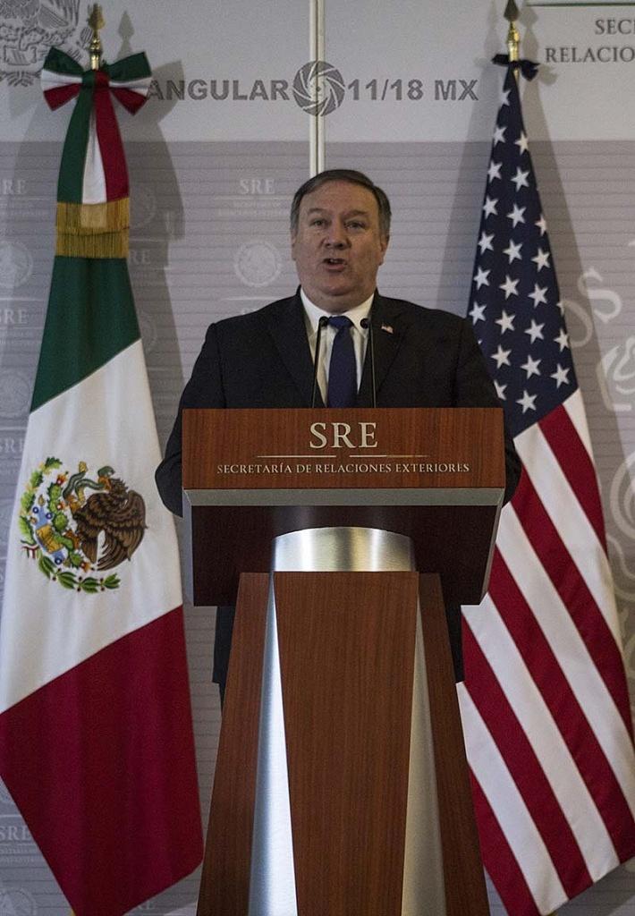 Michael Pompeo, Secretario de Estado de Estados Unidos, en visita de trabajo, en la Ciudad de México