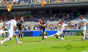 Pumas empata con Puebla 2-2, en la jornada, 11, del torneo apertura, 2018