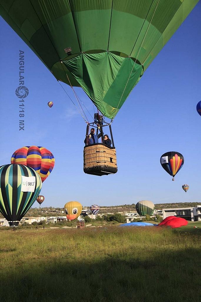 Festival Internacional del Globo 2018 León Guanajuato, aterrizaje