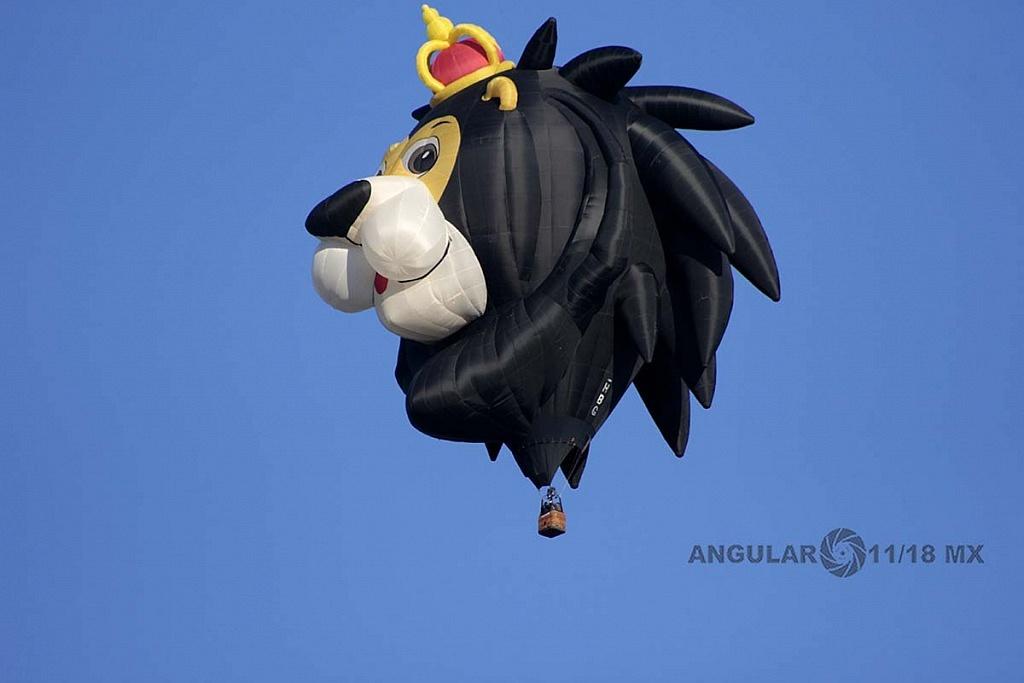 Festival Internacional del Globo 2018 León Guanajuato globo de León color negro llamado Lion King