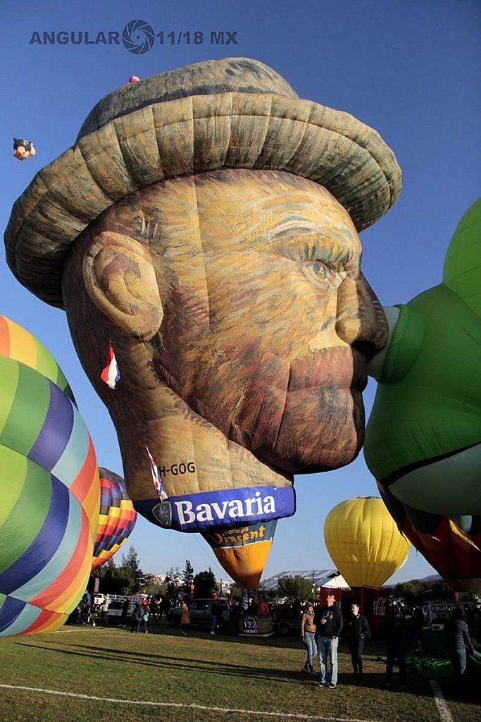 Festival Internacional del Globo 2018, León Guanajuato globo de figura de VincetVan Gogh