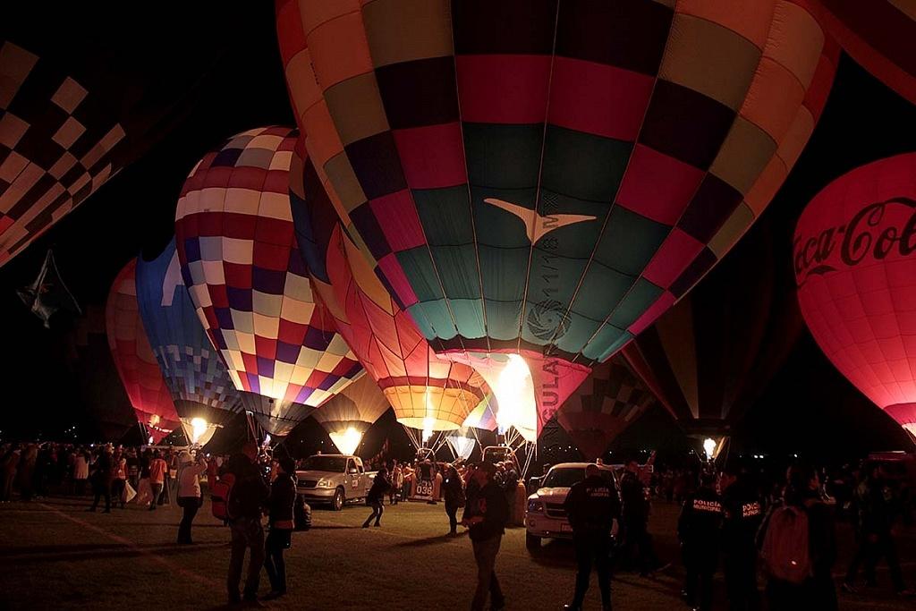 Festival Internacional del Globo 2018, León Guanajuato, noches magicas