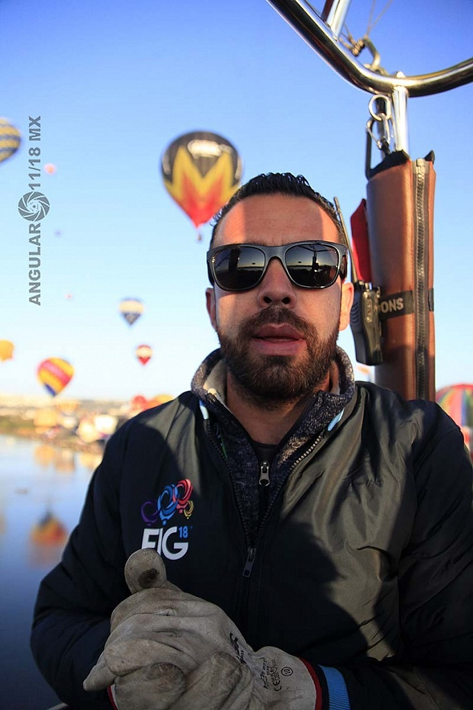 Festival Internacional del Globo 2018 León Guanajuato, piloto del globo con numero 183 Rodrigo