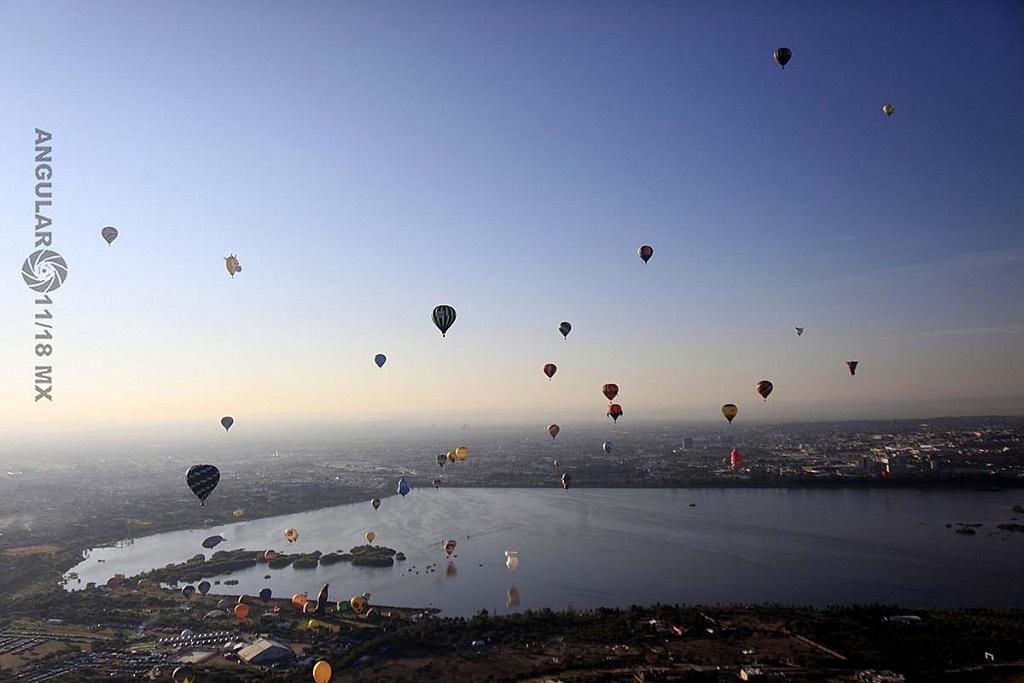 Festival Internacional del Globo 2018 León Guanajuato vista aeréa desde el globo, numero 183,