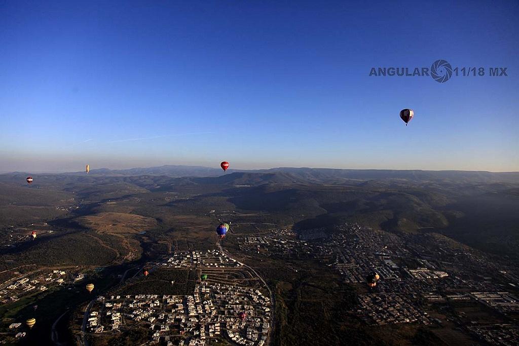 Festival Internacional del Globo 2018, León Guanajuato, vista aeréa desde el globo numero 183