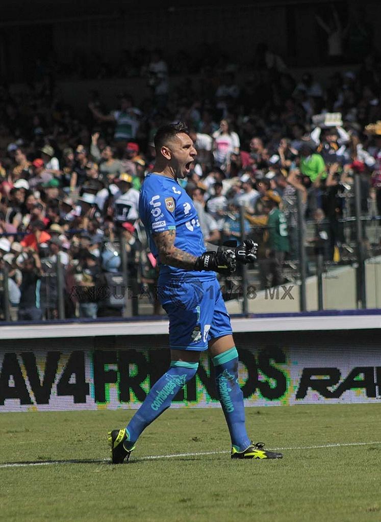 Jonathan Orozco portero del Santos en la jornada 17 del torneo apertura de liga mx 2018